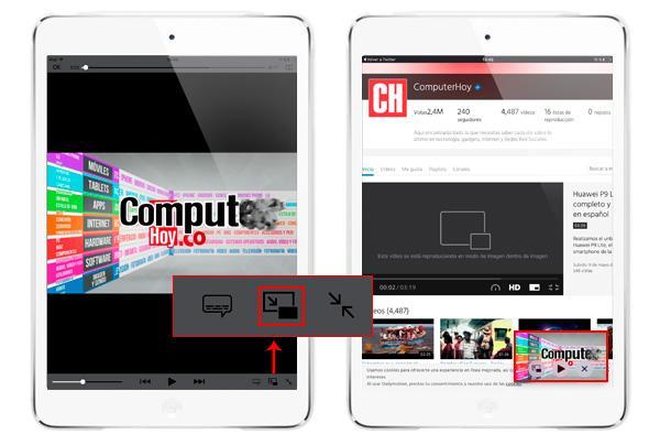 Cómo ver vídeos en una ventana flotante en iPad con iOS 9