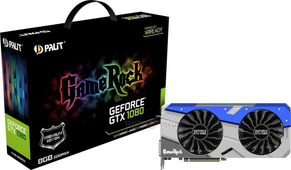 Palit GTX 1080 Gamerock con disipador mejorado e iluminación RGB