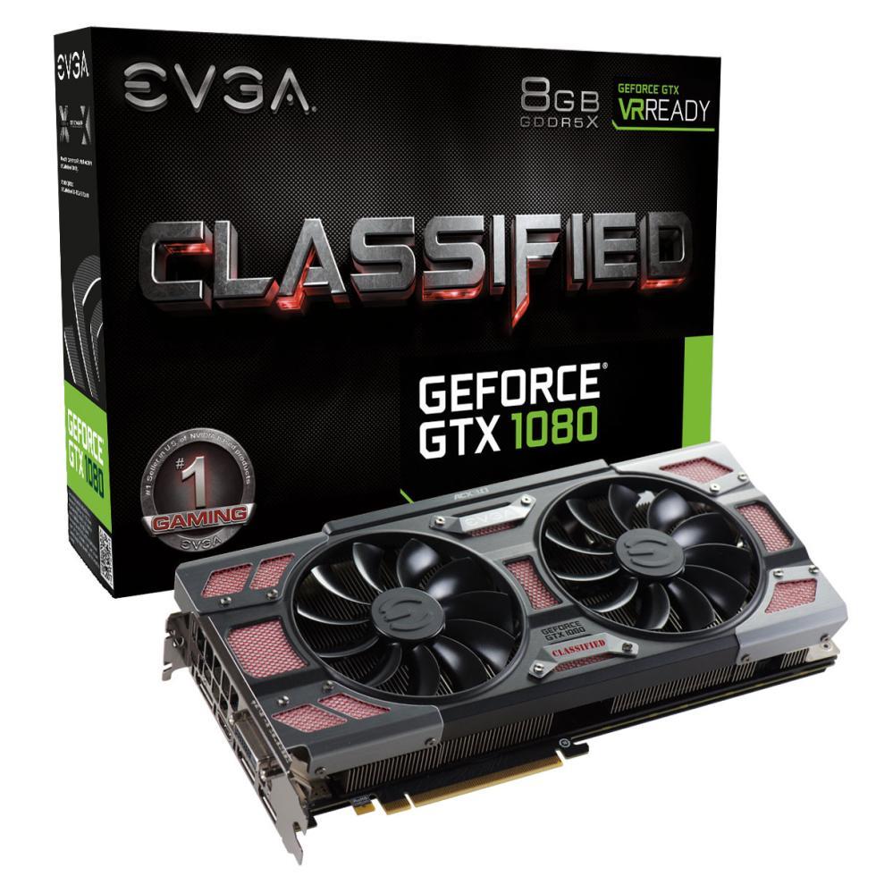 EVGA GTX 1080 Classified con iluminación RGB, disipador ACX 3.0 y OC