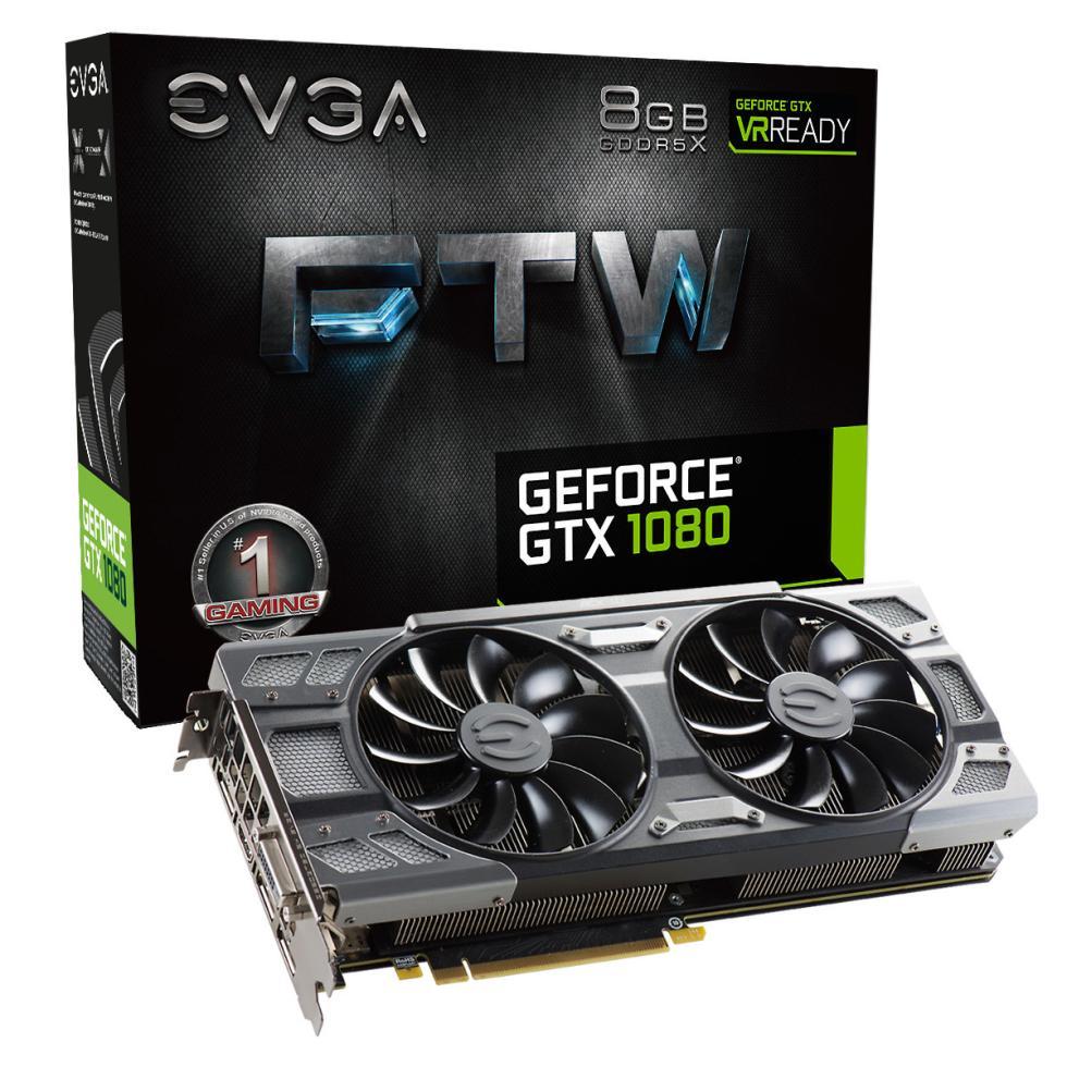 EVGA GTX 1080 FTW con iluminación RGB, disipador ACX 3.0 y OC