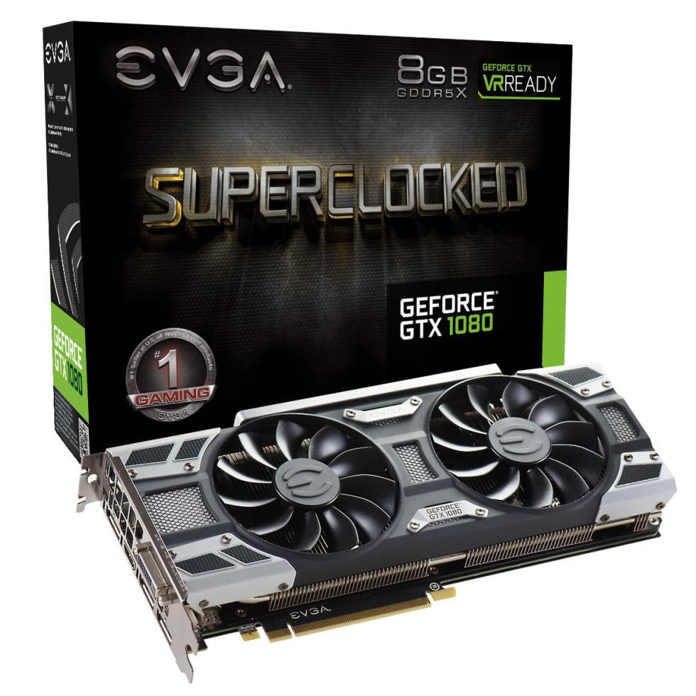 EVGA GTX 1080 SC con disipador ACX 3.0 y OC