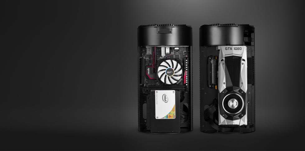 Criorig Ola, mini torre de pc ITX con un diseño similar al Mac Pro