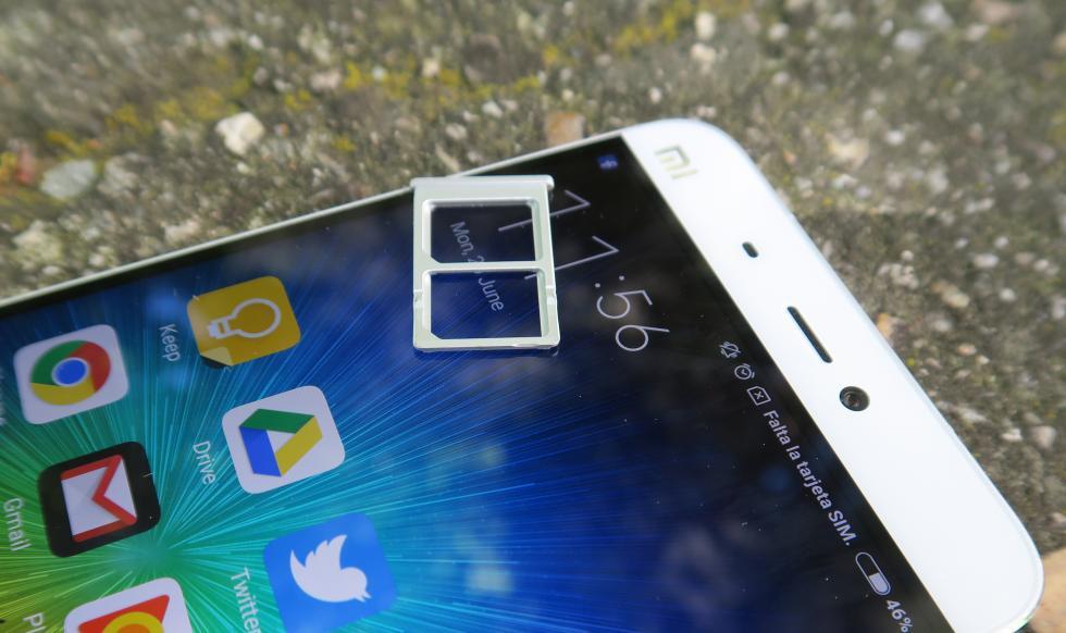 Bandeja para tarjetas del Xiaomi Mi5