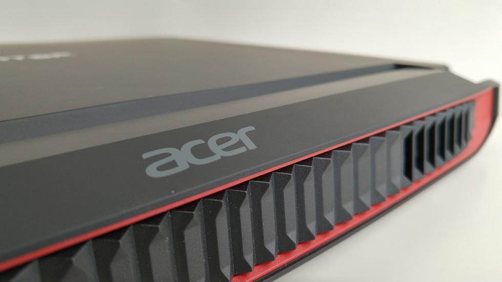 Acer Predator 15, rejilla trasera