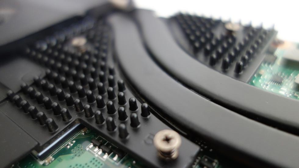 Acer predator 15, detalle del disipador para la gpu
