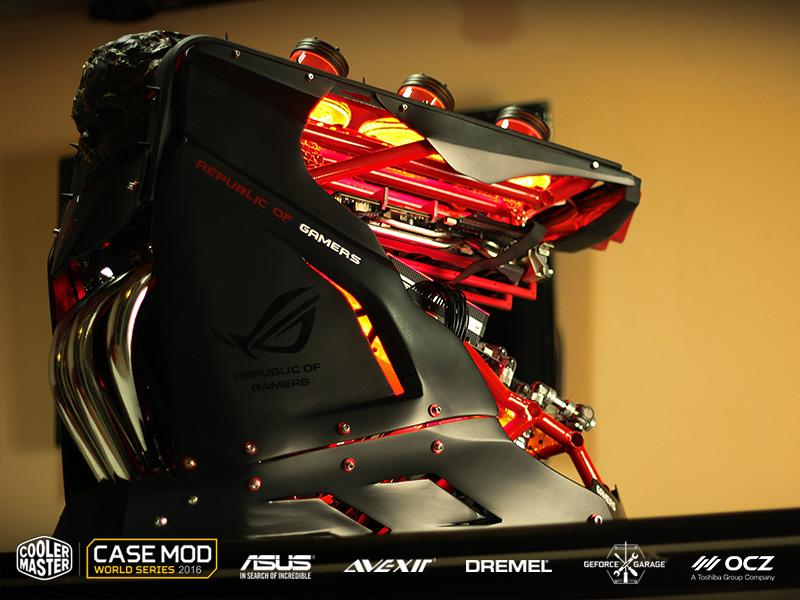 Ghost rider, primer clasificado del case mod world series 2016 categoría scratch build