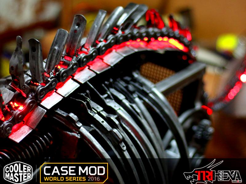 Apocalypse Dragon, scratch build premiado por el público en case mod world series 2016