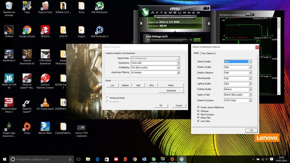 Fallout 4 con el Lenovo Y700