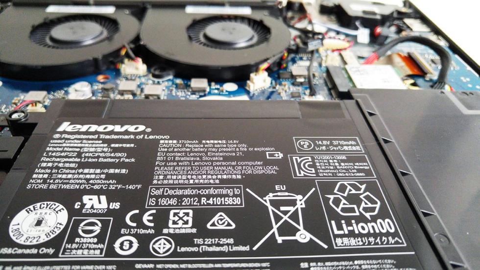 batería del Lenovo Y700