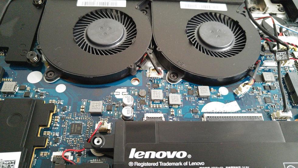 ventiladores del Lenovo Y700
