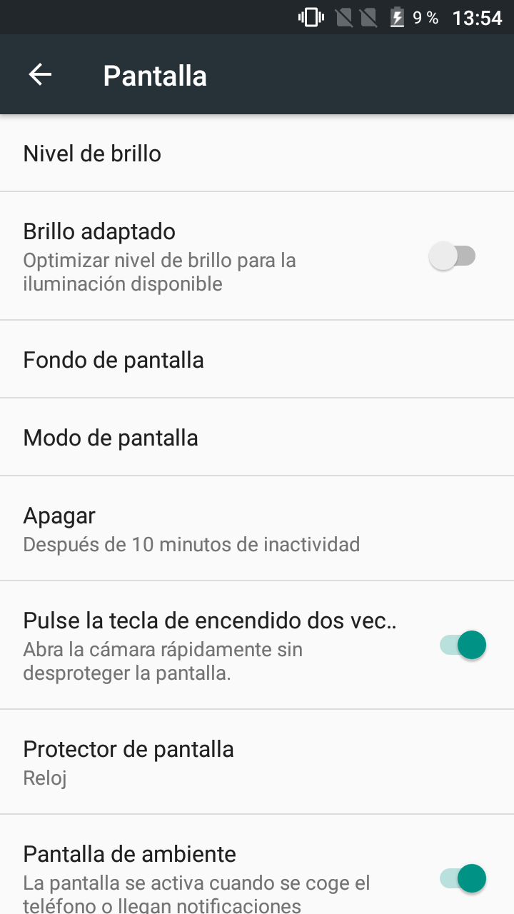 Interfaz del Alcatel Pop 4 Plus