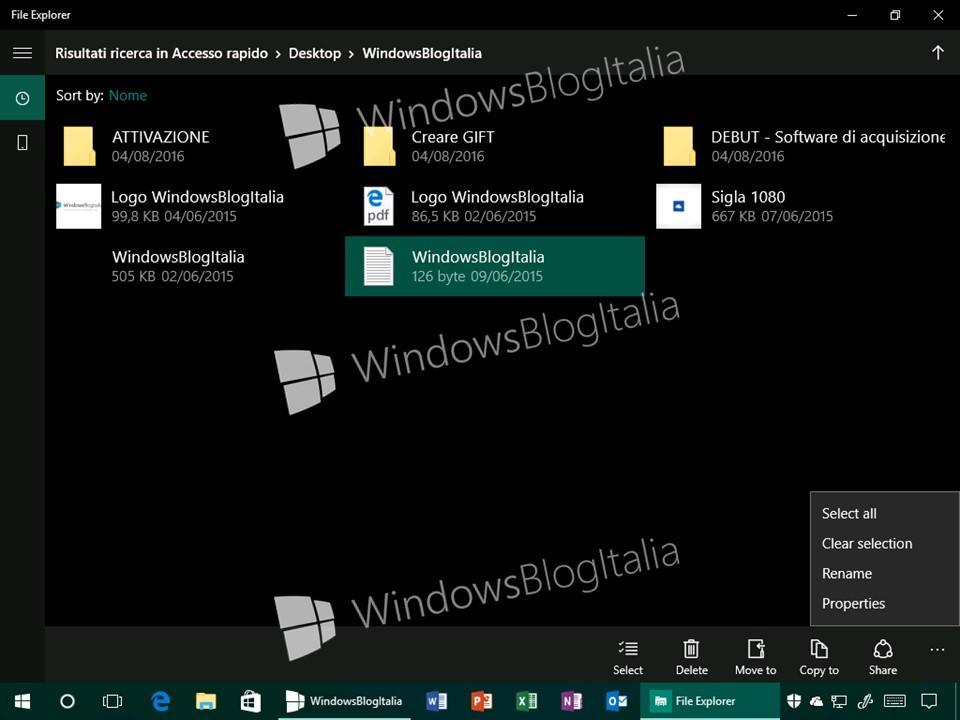 Adelanto de la aplicación Explorador de Archivos en Windows 10