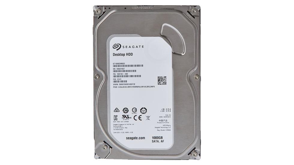 Disco duro Seagate 1 TB para la configuración de pc gamer por menos de 600 €