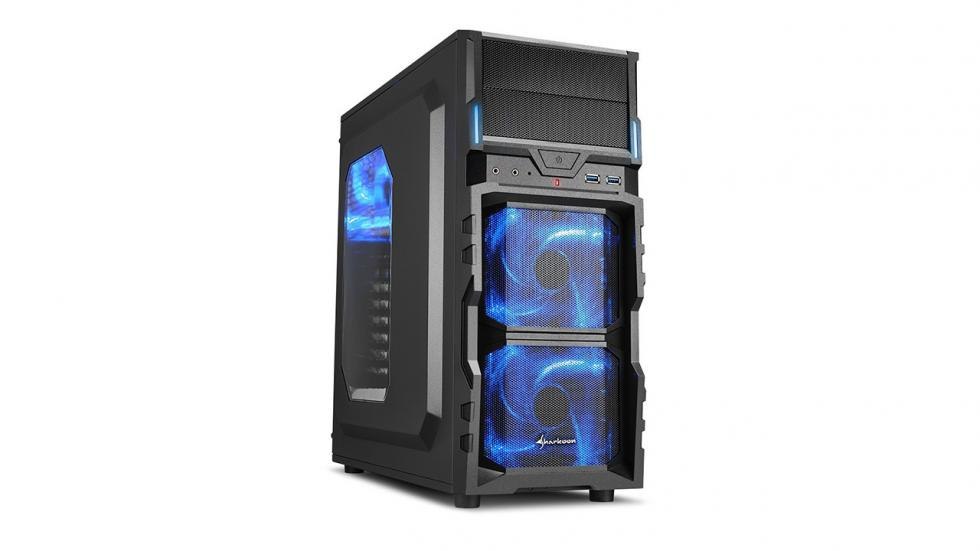 Chasis de pc Sharkoon VG5-W para la configuración de pc gamer por menos de 600 €
