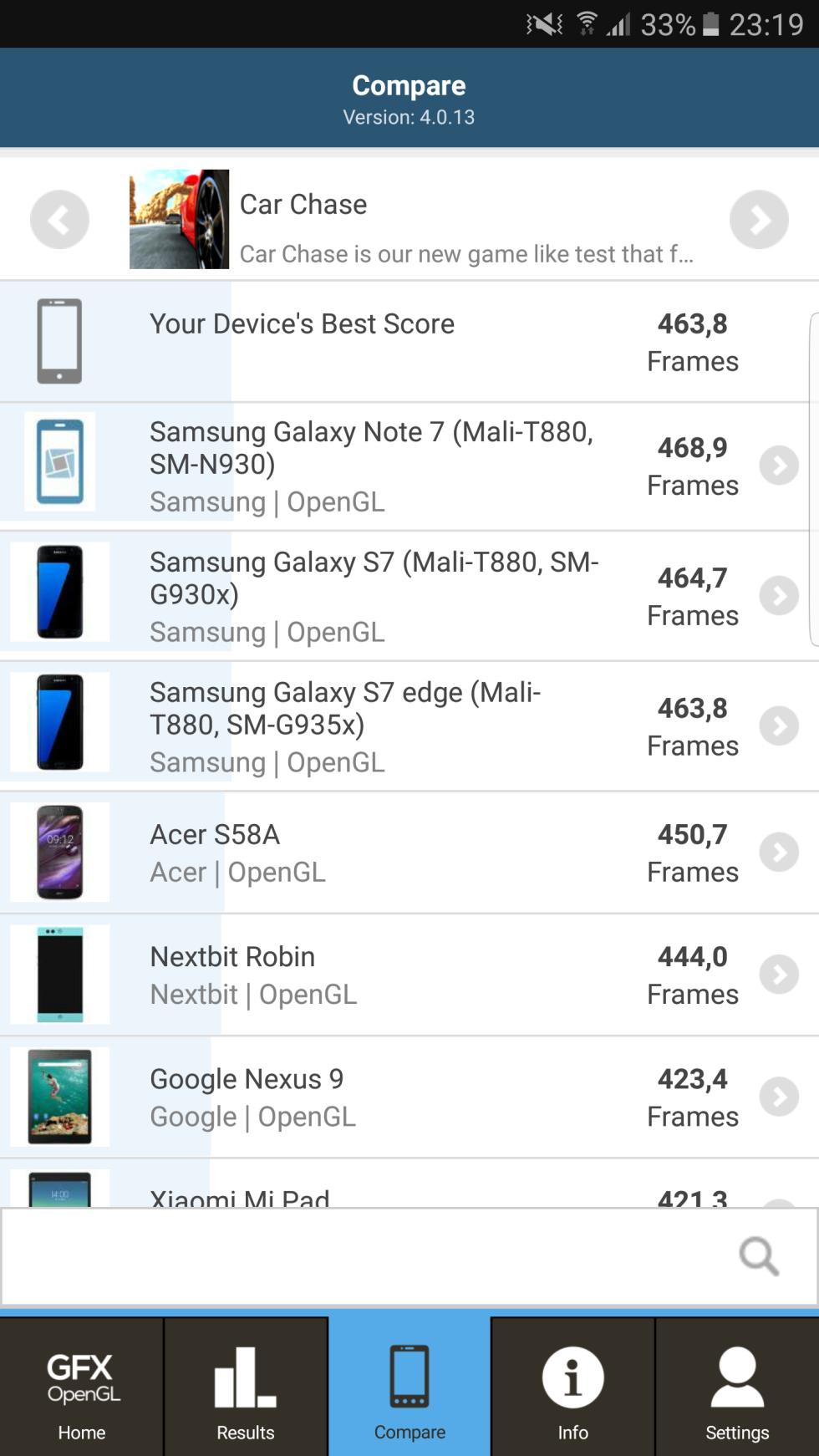 Pruebas de rendimiento y benchmarks del Samsung Galaxy Note7