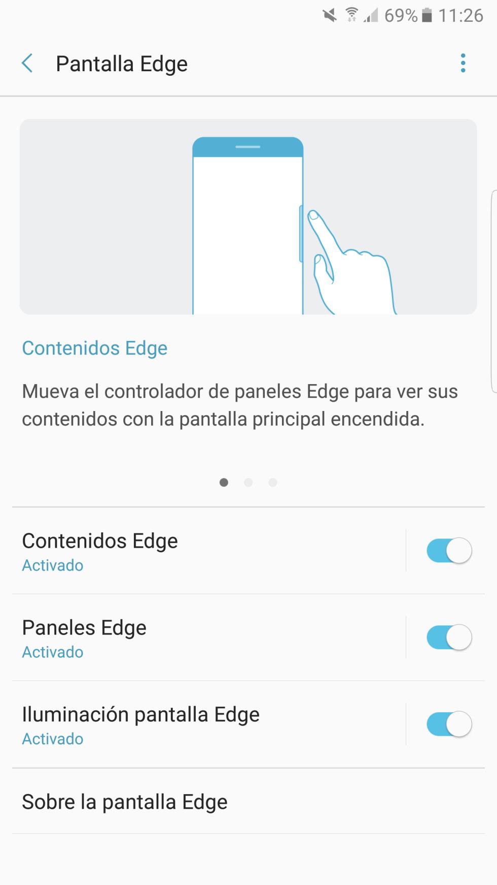 Software del Samsung Galaxy Note7