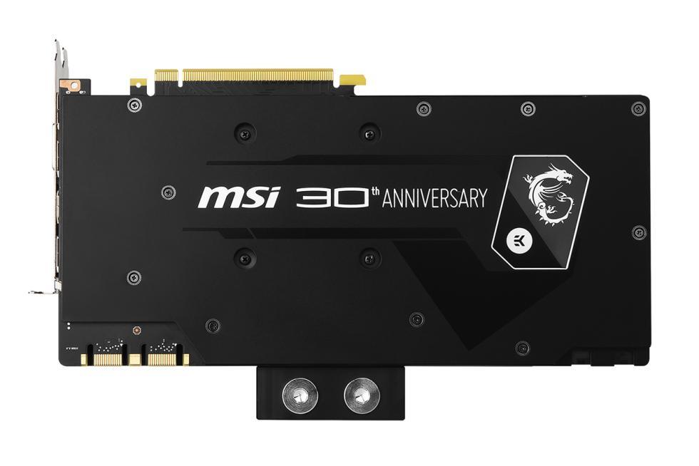 Imágenes de la MSI GTX 1080 30th anniversary edition