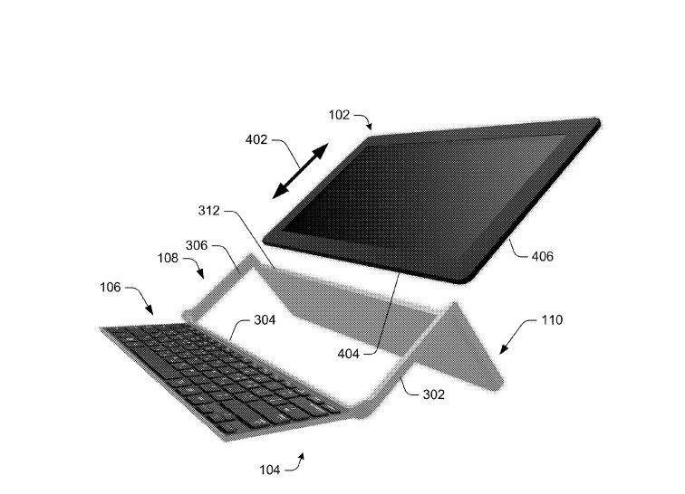 Microsoft ha patentado un teclado plegable para tablets