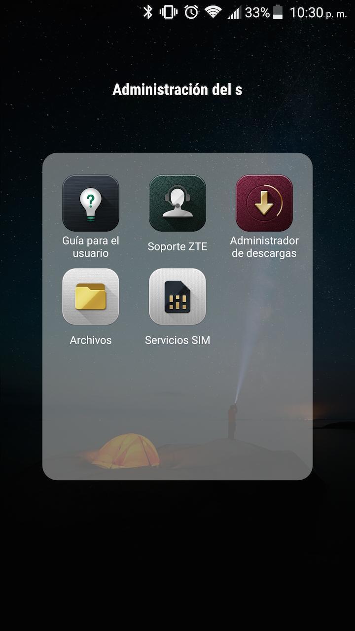 Interfaz y software del ZTE Axon 7