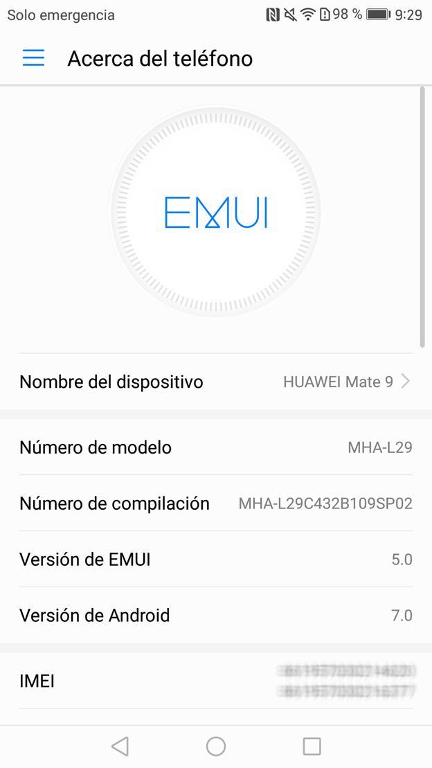 Android 7.0 Nougat y EMUI 5.0 en el Mate 9