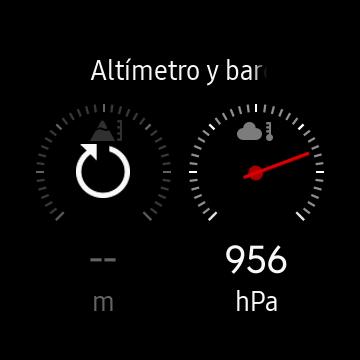 Aplicación de Altímetro y barómetro