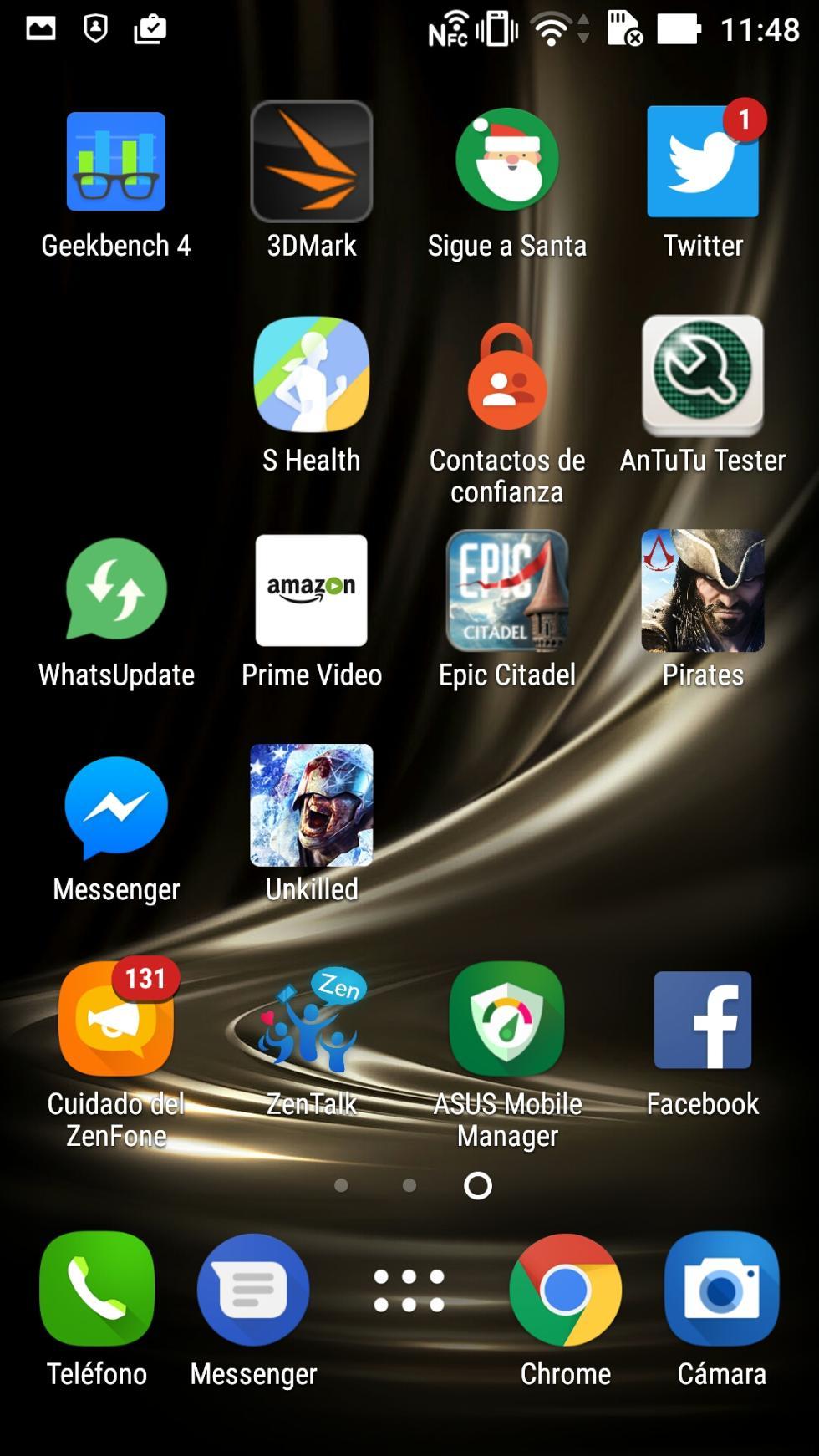 Interfaz del Asus ZenFone 3 Deluxe