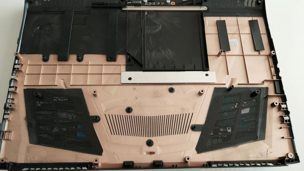 Imágenes del interior del Gigabyte P57X