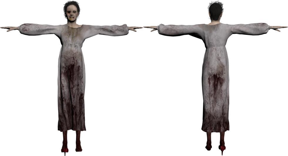 P.T. Silent Hills - Modelo del personaje del fantasma