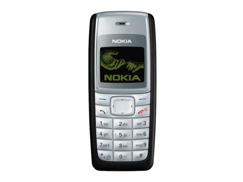 Nokia 1110 | Fecha de lanzamiento: 2005 | Millones de unidades vendidas: 250