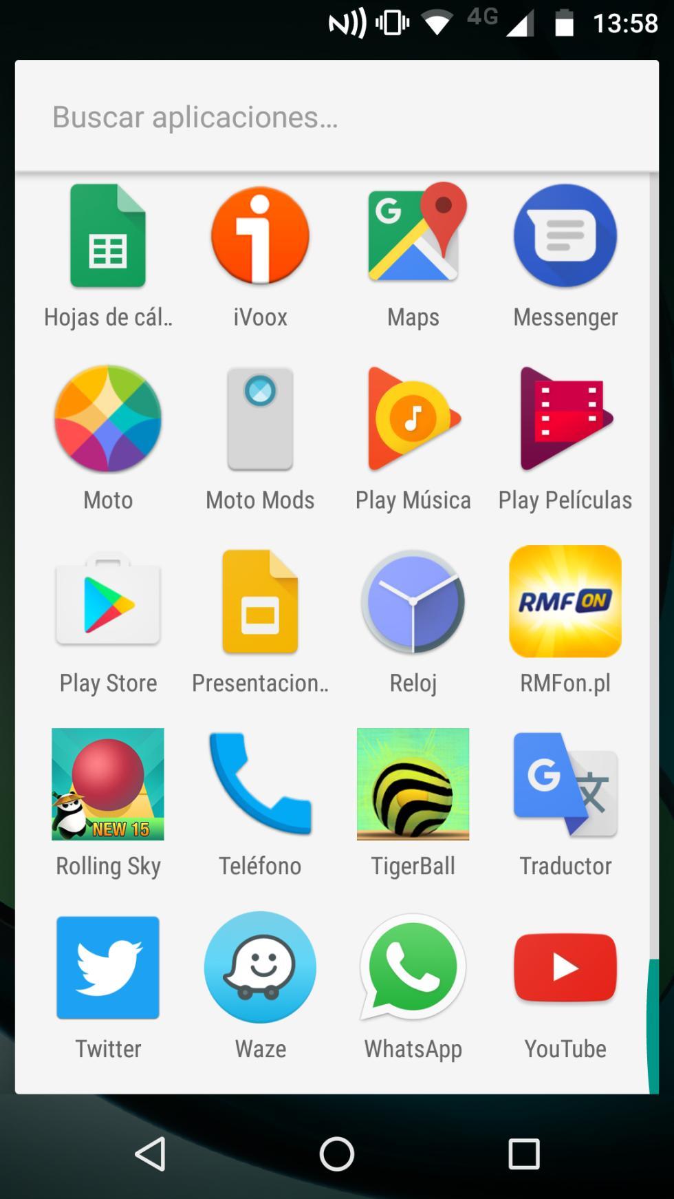 Más aplicaciones instaladas de serie en el Z Play
