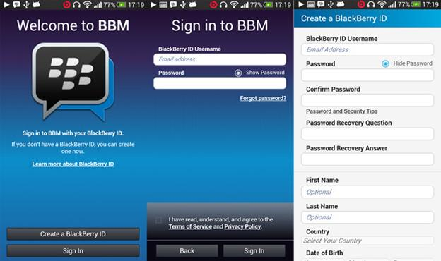Aplicación de BBM