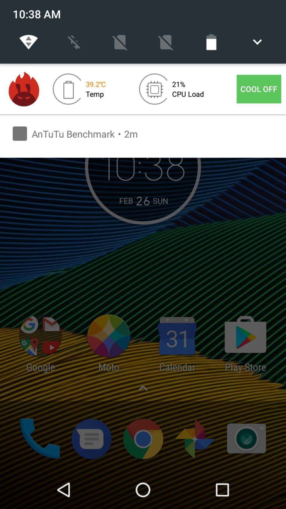 Interfaz del Moto G5 en las primeras impresiones