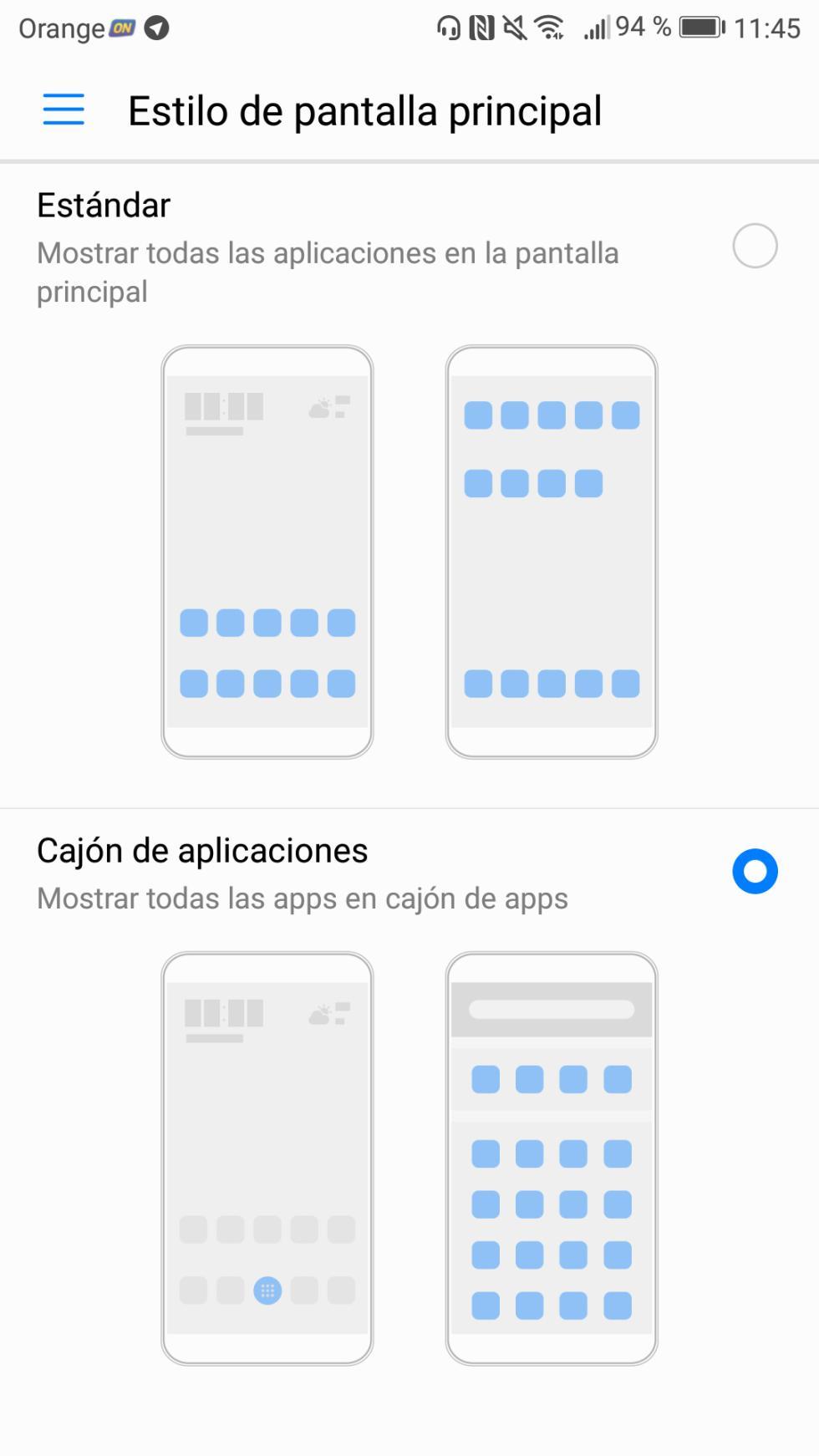El cajón de aplicaciones es opcional, y lo podemos activar si preferimos tener una interfaz al estilo de los Pixel de Google