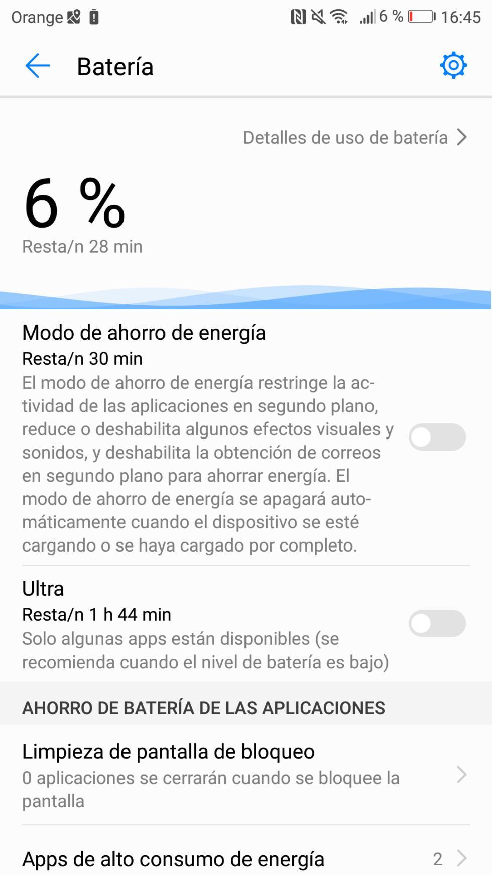 Batería del Huawei P10: consumo, autonomía y opciones de ahorro