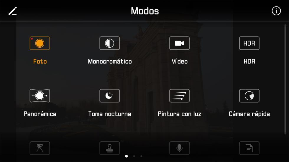 Los diferentes modos de cámara que tiene la aplicación (1/2)