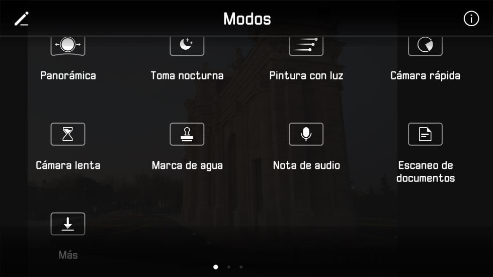 Los diferentes modos de cámara que tiene la aplicación (2/2)