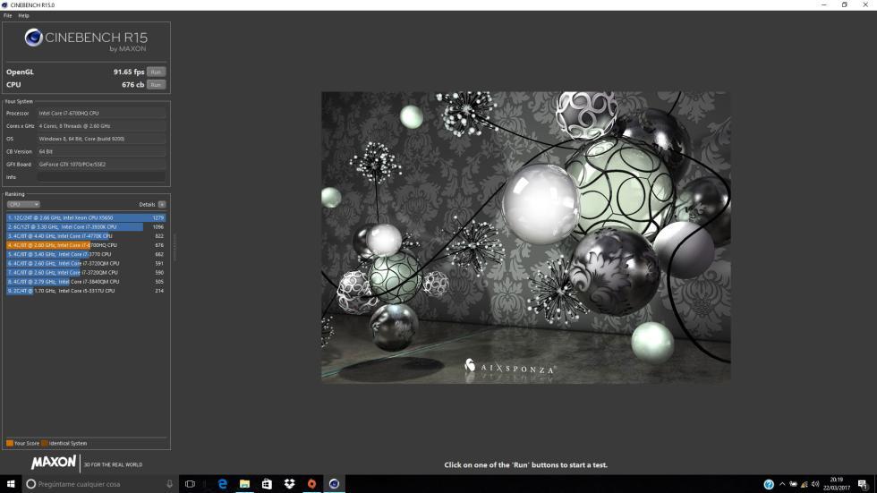 Capturas del HP Omen 17