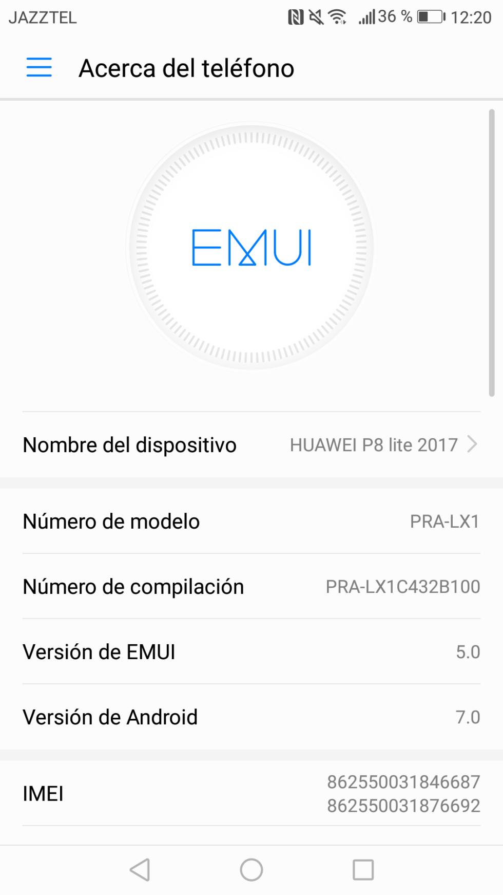 Información sobre la capa de EMUI que trae el P8 Lite 2017