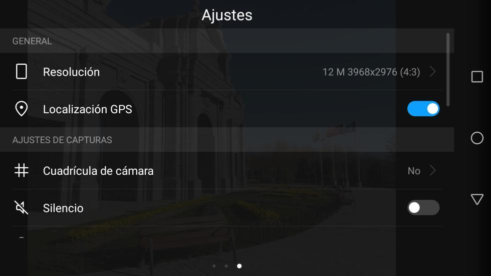 Aplicación de cámara del Huawei P8 Lite 2017