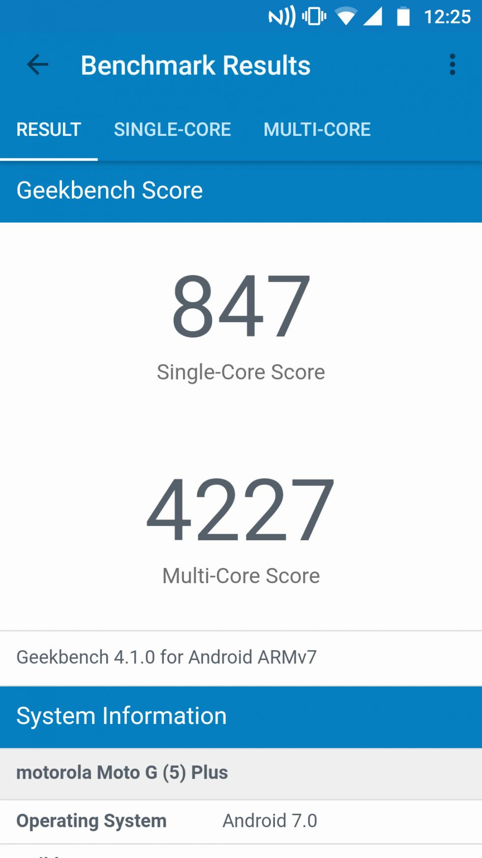 Para terminar, nuestra review del Moto G5 Plus también deja espacio para la prueba de GeekBench 4