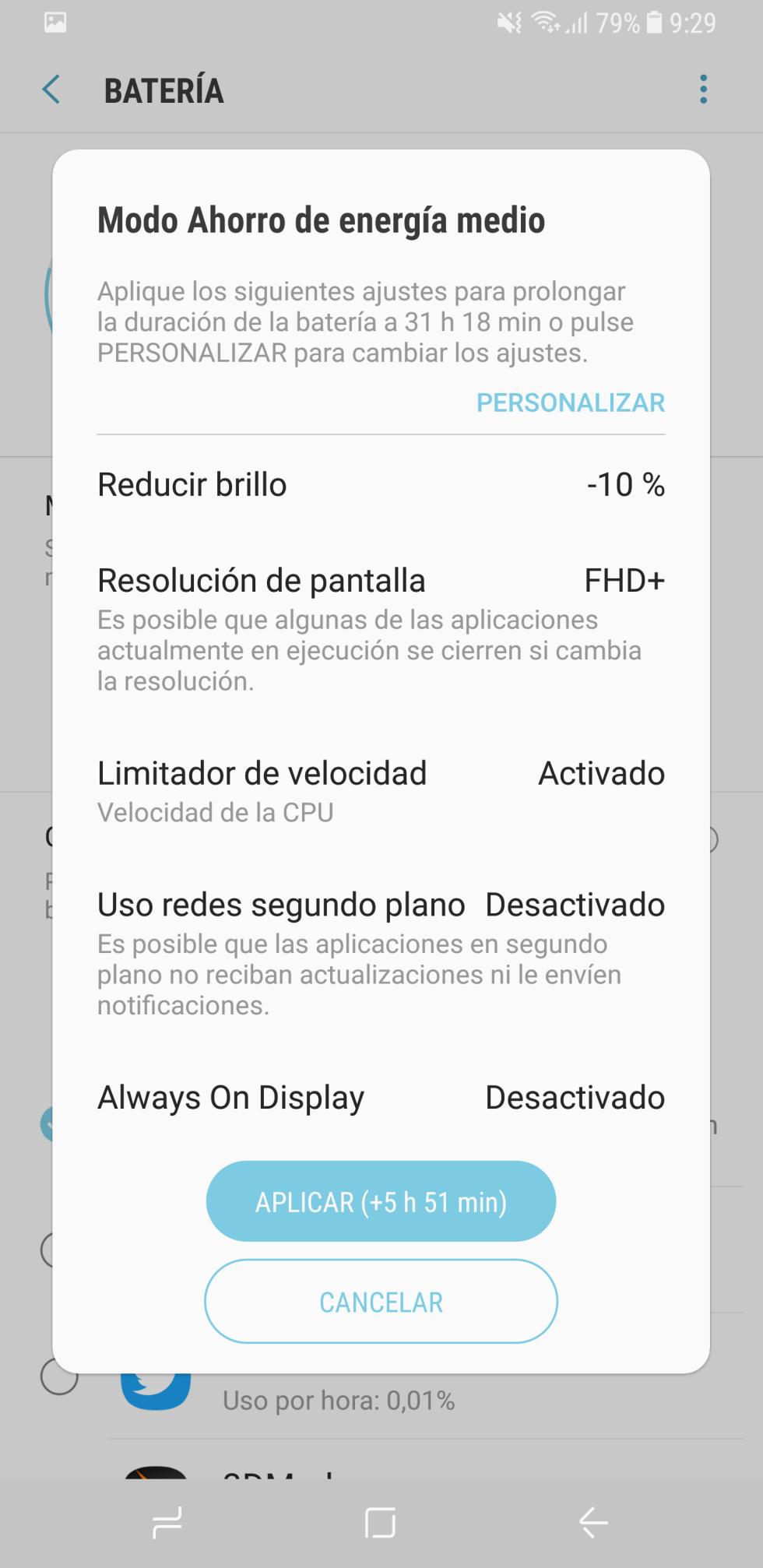 Batería del Samsung Galaxy S8+: consumo, autonomía y opciones de ahorro