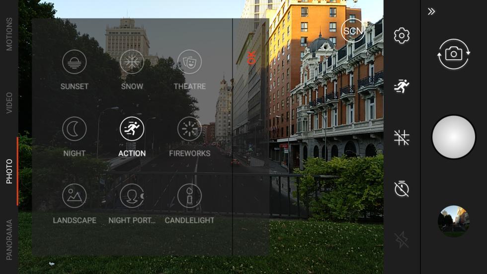 Aplicación de cámara del BQ Aquaris X Pro