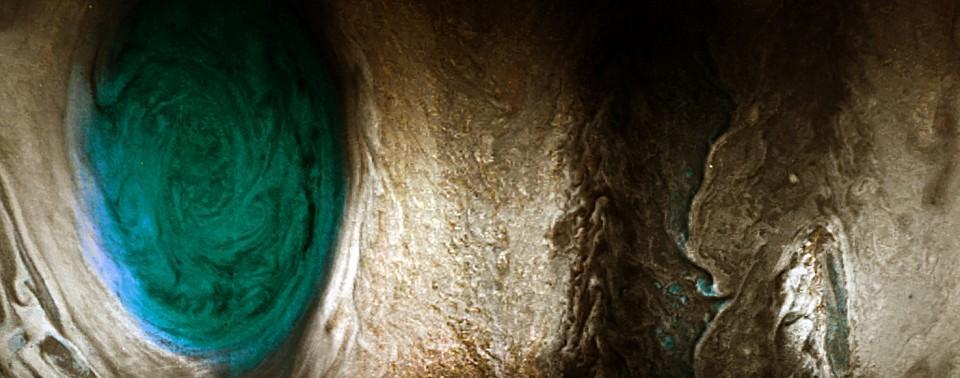 La NASA publica las mejores imágenes de la Gran Mancha Roja de Júpiter