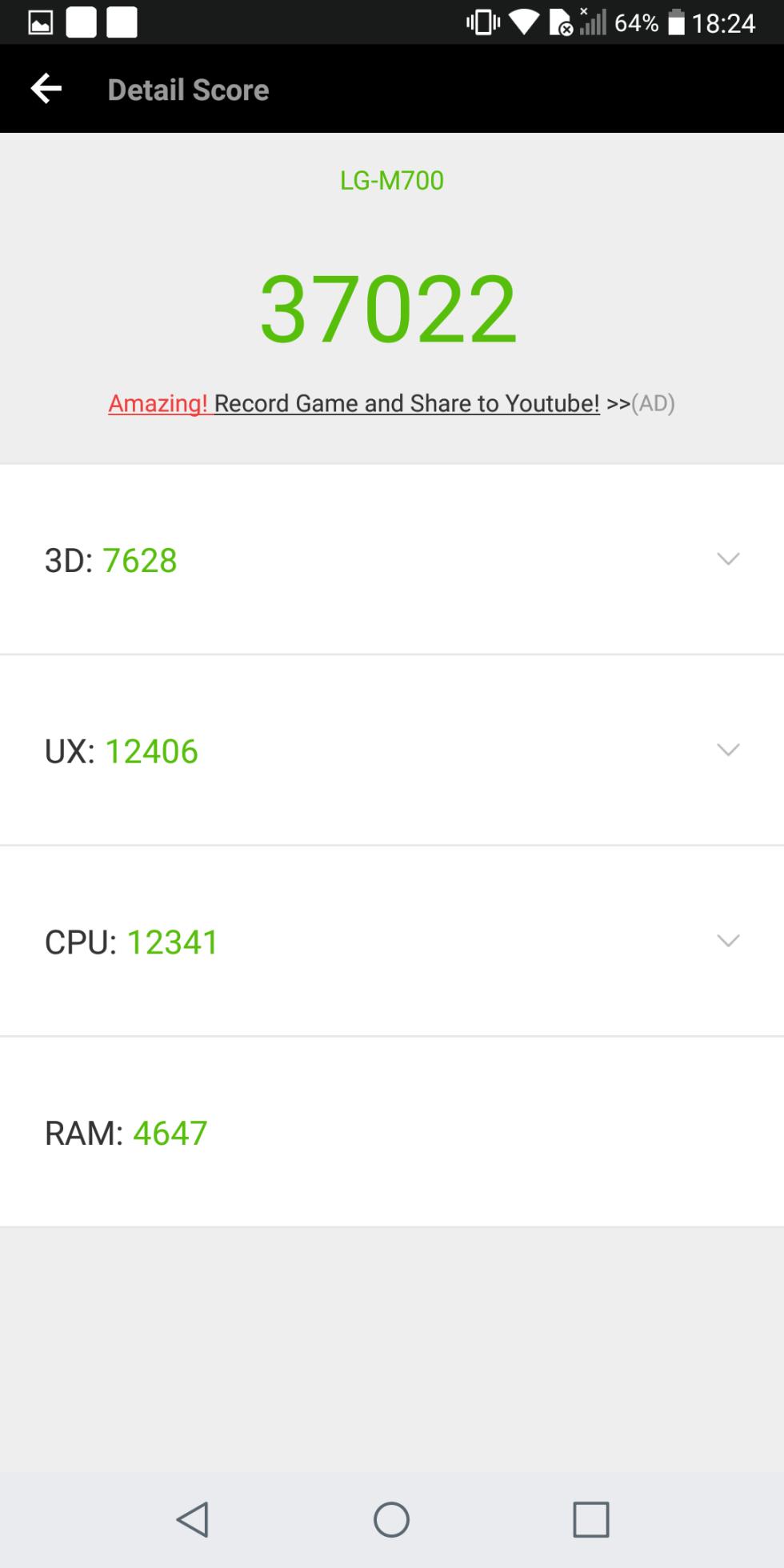 LG Q6, rendimiento y benchmarks