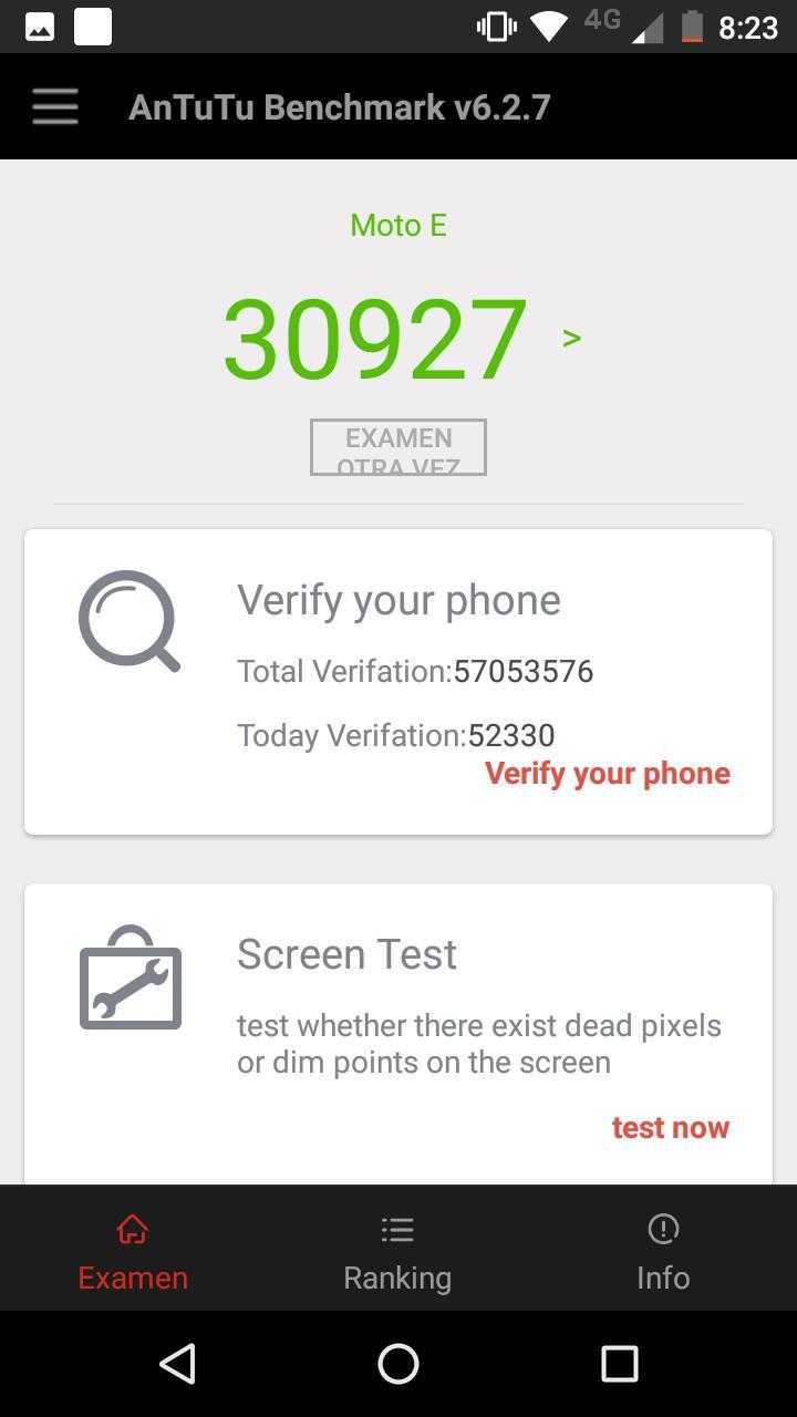 Pruebas de rendimiento del Moto E4: AnTuTu, 3DMark y GeekBench 4