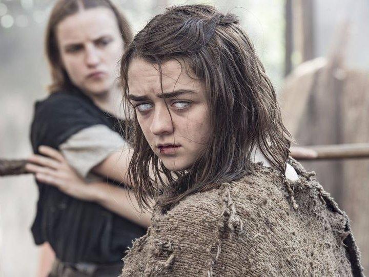 Arya Stark es un warg, o lo que es lo mismo: puede intercambiarse por un animal y poseerlo. Es lo mismo que hace Bran. De hecho, en los libros lo hace varias veces con su loba.