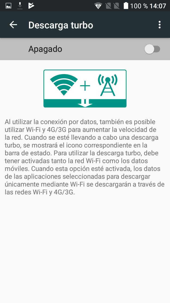 Interfaz del Alcatel A5 LED