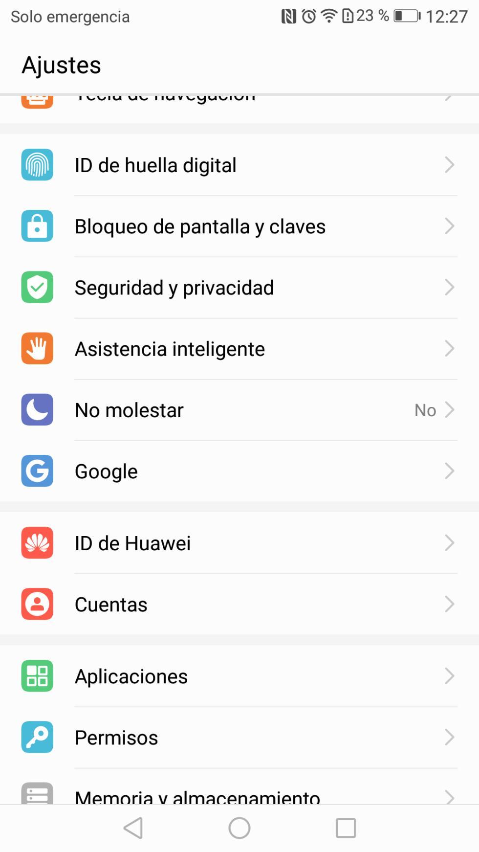 Interfaz del Huawei P10 Lite