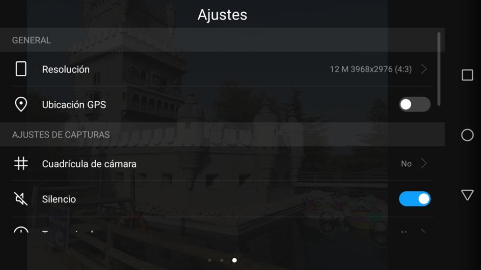 Aplicación de cámara del Huawei P10 Lite