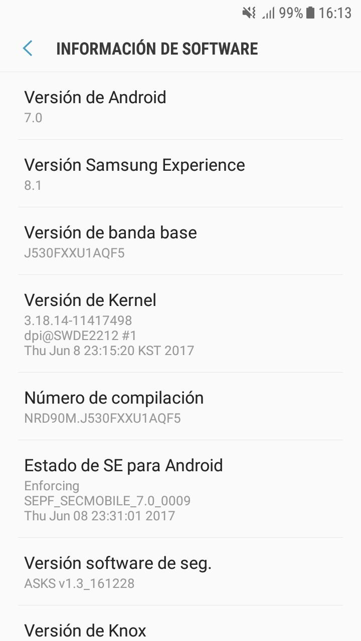 Software Samsung Galaxy J5 2017